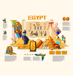 Ancient egypt infographic travel concept vector
