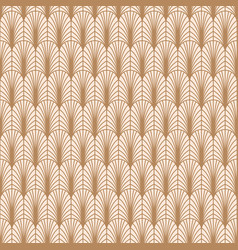 art deco gold line geometric style pattern vector image