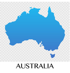 Australia map in asia continent design vector