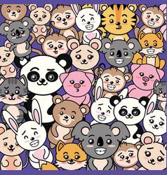 Beauty cute animal background design vector