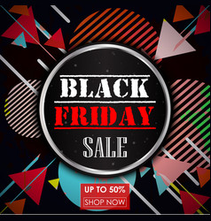 Black friday sale vintage abstract background vector