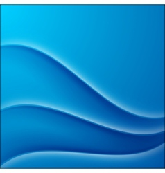 Blue shaded waves abstract background vector