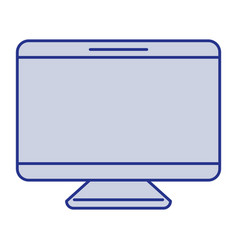 blue silhouette of screen monitor vector image
