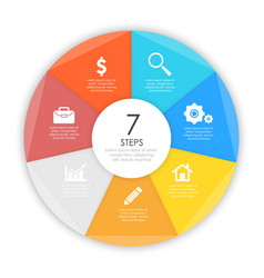 business concept of circle infographic template vector image