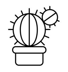 cactus thin line icon houseplant vector image