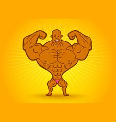 Cartoon a bodybuilder vector