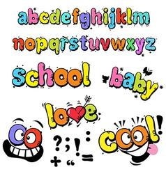 cartoon funny letters vector image