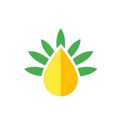 Cbd oil drop logo vector