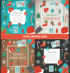 christmas and new year elements set christmas vector image