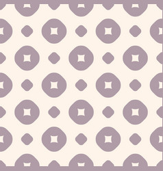 circles and dots pattern in retro pastel colors vector image
