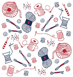 colorful sewing doodle hand drawn vector image vector image