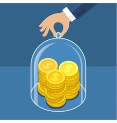 Concept for saving money vector image