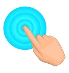 Cursor hand click icon cartoon style vector