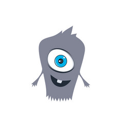 Cute adorable scary monster cartoon fictional vector