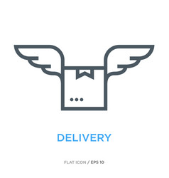 delivery line flat icon vector image