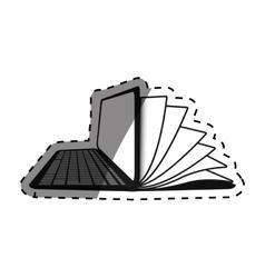 Ebook online education vector image