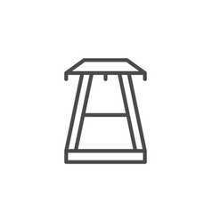 Electric pole line outline icon vector