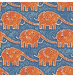 Elefants print vector