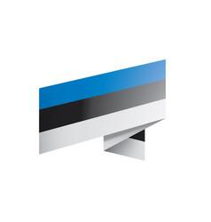 estonia flag on a white vector image