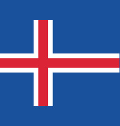Flag of iceland in official rate and colors vector