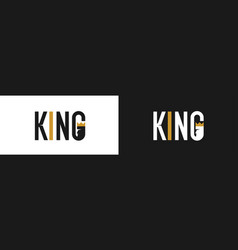 font emblem with inscription king modern vector image