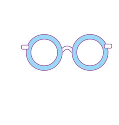 glasses with fashion style design vector image