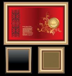 golden frames vector image