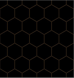golden honeycomb graphic seamless pattern over vector image
