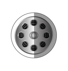 Grayscale sticker with cinematography tape vector