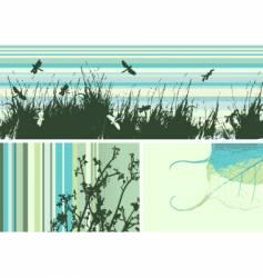 grunge frame nature vector image