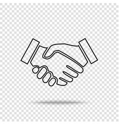 handshake icon business handshake contract vector image