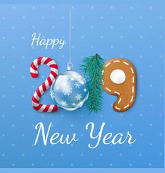 happy new year 2019 banner creative festive vector image