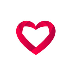 heart icon love for vector image