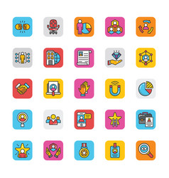 human resource icons set 5 vector image