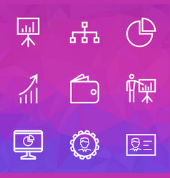 Job outline icons set collection of manager vector