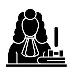 judge - gavel icon blac vector image