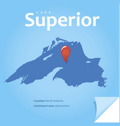 Lake superior vector