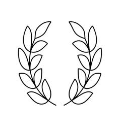 Laurel wreath line icon vector