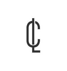 lc logo vector image