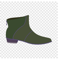 leather man shoe icon flat style vector image