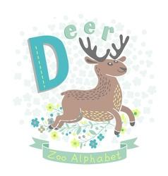 Letter D - Deer vector image