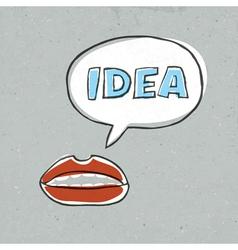 lips talk idea word vector image