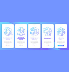 Machine errors onboarding mobile app page screen vector