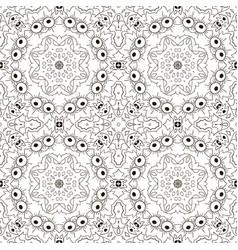 mandala zentangl seamless ornament relax oriental vector image