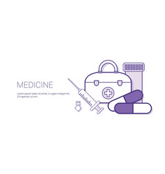 medicine medical treatment concept banner vector image