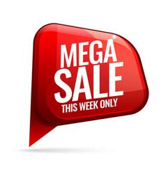mega sale advertising banner vector image