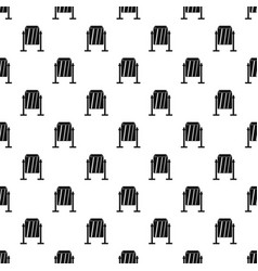 Metal dust bin pattern vector