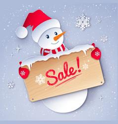paper cut style winter sale vector image
