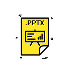 Pptx application download file files format icon vector