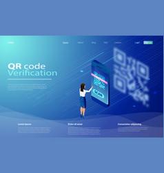 qr code scanning concept qr vector image